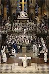 Chrism mass (Easter Wednesday) in Notre Dame Cathedral, Paris, France, Europe Stock Photo - Premium Rights-Managed, Artist: Robert Harding Images, Code: 841-06448124