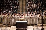Easter week celebration (Chrism mass) in Notre Dame Cathedral, Paris, France, Europe Stock Photo - Premium Rights-Managed, Artist: Robert Harding Images, Code: 841-06448151