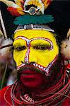 Colourfully dressed and face painted local tribes celebrating the traditional Sing Sing in the Highlands, Papua New Guinea, Pacific Stock Photo - Premium Rights-Managed, Artist: Robert Harding Images, Code: 841-06448195