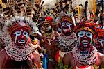 Colourfully dressed and face painted local tribes celebrating the traditional Sing Sing in the Highlands, Papua New Guinea, Pacific Stock Photo - Premium Rights-Managed, Artist: Robert Harding Images, Code: 841-06448198