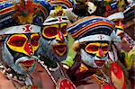 Colourfully dressed and face painted local tribes celebrating the traditional Sing Sing in the Highlands, Papua New Guinea, Pacific Stock Photo - Premium Rights-Managed, Artist: Robert Harding Images, Code: 841-06448207