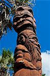 Wooden statues in the sculpture garden of La Foa, West coast of Grand Terre, New Caledonia, Melanesia, South Pacific, Pacific Stock Photo - Premium Rights-Managed, Artist: Robert Harding Images, Code: 841-06448330