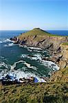 The Rumps in spring sunshine, Pentire Headland, Cornwall, England, United Kingdom, Europe Stock Photo - Premium Rights-Managed, Artist: Robert Harding Images, Code: 841-06448504