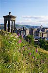 Dugald Stewart Monument and view of Old Town from Calton Hill in summer sunshine, Edinburgh, Scotland, United Kingdom, Europe Stock Photo - Premium Rights-Managed, Artist: Robert Harding Images, Code: 841-06448522