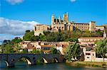 Cathedral Saint-Nazaire and Pont Vieux (Old Bridge) over the River Orb, Beziers, Herault, Languedoc, France, Europe Stock Photo - Premium Rights-Managed, Artist: Robert Harding Images, Code: 841-06448551