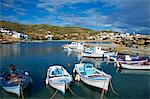 Harbour and town, Stavros, Donoussa, Cyclades, Aegean, Greek Islands, Greece, Europe Stock Photo - Premium Rights-Managed, Artist: Robert Harding Images, Code: 841-06448605