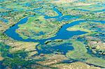 Aerial view of floodplains, water channels, and islands along Zambezi and Chobe rivers confluence, eastern Caprivi Strip, Namibia, Africa Stock Photo - Premium Rights-Managed, Artist: Robert Harding Images, Code: 841-06448656