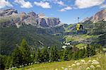 View from Col Alto and cable car, Corvara, Badia Valley, Bolzano Province, Trentino-Alto Adige/South Tyrol, Italian Dolomites, Italy, Europe Stock Photo - Premium Rights-Managed, Artist: Robert Harding Images, Code: 841-06448773