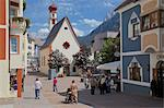 Street scene and Little Church, Ortisei, Gardena Valley, Bolzano Province, Trentino-Alto Adige/South Tyrol, Italian Dolomites, Italy, Europe Stock Photo - Premium Rights-Managed, Artist: Robert Harding Images, Code: 841-06448809