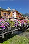 Bridge and flowers, Pozza di Fassa, Fassa Valley, Trento Province, Trentino-Alto Adige/South Tyrol, Italian Dolomites, Italy, Europe Stock Photo - Premium Rights-Managed, Artist: Robert Harding Images, Code: 841-06448839