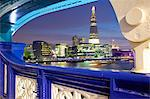The Shard from Tower Bridge at dusk, London, England, United Kingdom, Europe Stock Photo - Premium Rights-Managed, Artist: Robert Harding Images, Code: 841-06448975