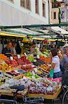 Market stall, Piazza Erbe Market, Bolzano, Bolzano Province, Trentino-Alto Adige, Italy, Europe Stock Photo - Premium Rights-Managed, Artist: Robert Harding Images, Code: 841-06449013