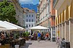 Cafes and shops, Via Mostra, Bolzano, Bolzano Province, Trentino-Alto Adige, Italy, Europe Stock Photo - Premium Rights-Managed, Artist: Robert Harding Images, Code: 841-06449019