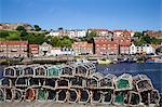 Lobster pots at Endeavour Wharf in Whitby, North Yorkshire, Yorkshire, England, United Kingdom, Europe Stock Photo - Premium Rights-Managed, Artist: Robert Harding Images, Code: 841-06449088