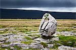 Dark clouds and Standing Stone on Twisleton Scar, Yorkshire Dales, North Yorkshire, Yortkshire, England, United Kingdom, Europe Stock Photo - Premium Rights-Managed, Artist: Robert Harding Images, Code: 841-06449178