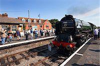 Pacfic Class Steam Locomotive Tornado visiting Sheringham on the Poppy Line, North Norfolk Railway, Norfolk, England, United Kingdom, Europe Stock Photo - Premium Rights-Managed, Artist: Robert Harding Images, Code: 841-06449230