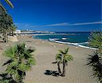View along beach, Marbella, Costa del Sol, Andalucia, Spain, Mediterranean, Europe Stock Photo - Premium Rights-Managed, Artist: Robert Harding Images, Code: 841-06449328