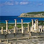 Roman ruins with statue of Emperor Trajan, Baelo Claudia, near Tarifa, Andalucia, Spain, Europe Stock Photo - Premium Rights-Managed, Artist: Robert Harding Images, Code: 841-06449340