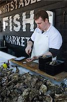 food stalls - Oyster seller, Whitstable, Kent, England, United Kingdom, Europe Stock Photo - Premium Rights-Managednull, Code: 841-06449350