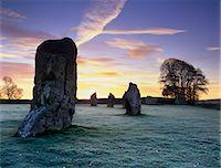 prehistoric - Prehistoric stone circle in frost, Avebury, UNESCO World Heritage Site, Wiltshire, England, United Kingdom, Europe Stock Photo - Premium Rights-Managednull, Code: 841-06449366