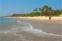 View along beach, Benaulim, Goa, India, Asia Stock Photo - Premium Rights-Managednull, Code: 841-06449369