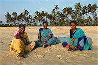 Local women on beach, Benaulim, Goa, India, Asia Stock Photo - Premium Rights-Managednull, Code: 841-06449370