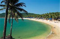 View over Palolem beach, Palolem, Goa, India, Asia Stock Photo - Premium Rights-Managednull, Code: 841-06449376