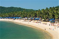 View over Palolem beach, Palolem, Goa, India, Asia Stock Photo - Premium Rights-Managednull, Code: 841-06449377
