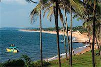 View along Sinquerim Beach, Fort Aguada, Goa, India, Asia Stock Photo - Premium Rights-Managednull, Code: 841-06449387