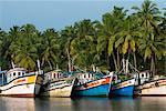 Fishing boats along the Backwaters, near Alappuzha (Alleppey), Kerala, India, Asia Stock Photo - Premium Rights-Managed, Artist: Robert Harding Images, Code: 841-06449400