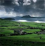 View over Blasket Sound to the Blasket Islands and Slea Head, The Dingle Peninsula, County Kerry, Munster, Republic of Ireland, Europe Stock Photo - Premium Rights-Managed, Artist: Robert Harding Images, Code: 841-06449475