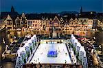 Ice Rink and Christmas Market in the Market Square, Bruges, West Vlaanderen (Flanders), Belgium, Europe Stock Photo - Premium Rights-Managed, Artist: Robert Harding Images, Code: 841-06449485