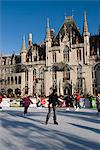 Christmas Ice Rink in the Market Square, Bruges, West Vlaanderen (Flanders), Belgium, Europe Stock Photo - Premium Rights-Managed, Artist: Robert Harding Images, Code: 841-06449490