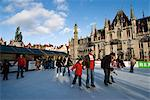 Christmas Ice Rink in the Market Square, Bruges, West Vlaanderen (Flanders), Belgium, Europe Stock Photo - Premium Rights-Managed, Artist: Robert Harding Images, Code: 841-06449491