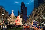 Christmas lights leading up to the Kaiser Wilhelm Memorial Church, Berlin, Germany, Europe Stock Photo - Premium Rights-Managed, Artist: Robert Harding Images, Code: 841-06449508