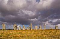 Showery weather at Callanish Stone Circle, Isle of Lewis, Outer Hebrides, Scotland, United Kingdom, Europe Stock Photo - Premium Rights-Managednull, Code: 841-06449607