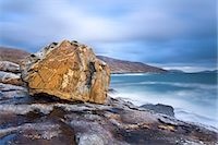 Giant Lewisian gneiss rock on a showery evening at Mealista on the south west coast of Lewis, Isle of Lewis, Outer Hebrides, Scotland, United Kingdom, Europe Stock Photo - Premium Rights-Managednull, Code: 841-06449608