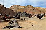 The old mining ghost town of Pulacayo, Industrial Heritage Site, famously linked to Butch Cassidy and the Sundance Kid, Bolivia, South America Stock Photo - Premium Rights-Managed, Artist: Robert Harding Images, Code: 841-06449706