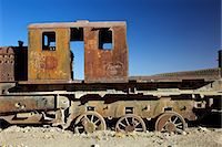 steam engine - Rusting old steam locomotives at the Train cemetery (train graveyard), Uyuni, Southwest, Bolivia, South America Stock Photo - Premium Rights-Managednull, Code: 841-06449767