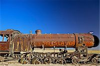 steam engine - Rusting old steam locomotive at the Train cemetery (train graveyard), Uyuni, Southwest, Bolivia, South America Stock Photo - Premium Rights-Managednull, Code: 841-06449769