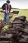 Peat cutting. Foula Island, Shetland Islands, Scotland, United Kingdom, Europe Stock Photo - Premium Rights-Managed, Artist: Robert Harding Images, Code: 841-06449787
