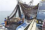 Artesanal purse seine vessels known as boliche boats are common practice on the Latin Amereican coast of the Pacific, Peru, South America Stock Photo - Premium Rights-Managed, Artist: Robert Harding Images, Code: 841-06449949