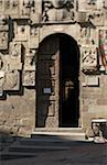 carved stone facade of Palazzo Pretorio, Arezzo, Province of Arezzo, Tuscany, Italy Stock Photo - Premium Rights-Managed, Artist: Michael Mahovlich, Code: 700-06452057