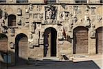 carved stone facade of Palazzo Pretorio, Arezzo, Province of Arezzo, Tuscany, Italy Stock Photo - Premium Rights-Managed, Artist: Michael Mahovlich, Code: 700-06452058