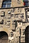 carved stone facade of Palazzo Pretorio, Arezzo, Province of Arezzo, Tuscany, Italy Stock Photo - Premium Rights-Managed, Artist: Michael Mahovlich, Code: 700-06452060