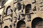 carved stone facade of Palazzo Pretorio, Arezzo, Province of Arezzo, Tuscany, Italy Stock Photo - Premium Rights-Managed, Artist: Michael Mahovlich, Code: 700-06452061