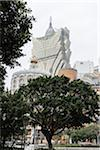 Trees in front of Grand Lisboa Hotel and Casino, Macau, China Stock Photo - Premium Rights-Managed, Artist: Tomasz Rossa, Code: 700-06452169