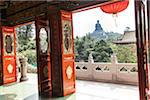 View of Tian Tan Buddha from Inside Building, Po Lin Monastery, Ngong Ping Plateau, Lantau Island, Hong Kong, China Stock Photo - Premium Rights-Managed, Artist: Tomasz Rossa, Code: 700-06452192