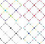 Artistic style colored seamless textures. Seamless background with dots Stock Photo - Royalty-Free, Artist: aerial6                       , Code: 400-06452413