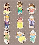 Sick Character stickers Stock Photo - Royalty-Free, Artist: notkoo2008                    , Code: 400-06452503